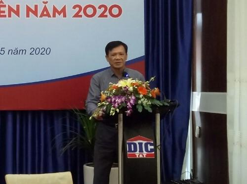 Ông Nguyễn Thiện Tuấn Chủ tịch HĐQT DIC Corp phát biểu tại đại hội.